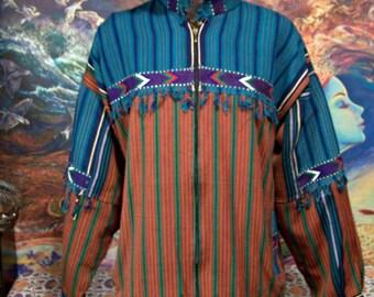Guatemalan Jacket, Coat, Cotton, weave, Men, NWOT, size L