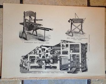 1890 Printing Antique Illustration