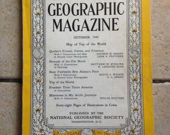 October, 1949 National Geographic Magazine