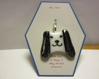Fused glass dog or puppy pendant
