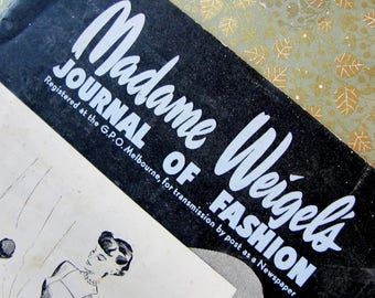 madame Weigels journal of fashion - May 1 1949 ladies magazine with knitting and craft patterns