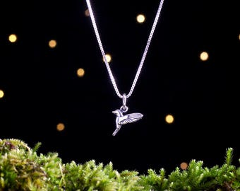 Sterling Silver Hummingbird - Small, 3D Double Sided Bird - (Charm, Necklace, or Earrings)