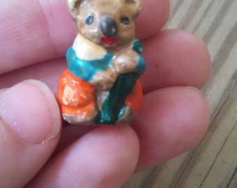 Miniature Koala - fairy folk koala figurine koala collectable vintage animal ornament cute koala dressed animals Australia