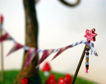Miniature Bunting | Fairy Garden | Dolls house | Card Making | Model Making | Embellishment