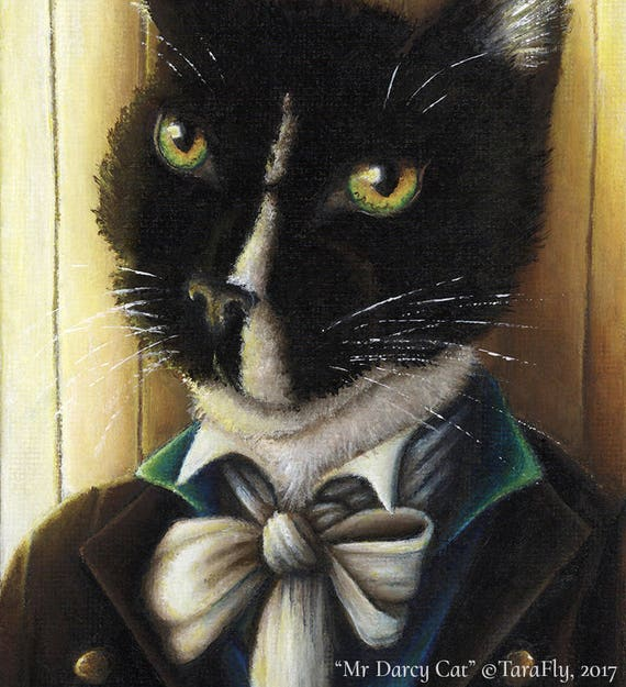 Mr Darcy Tuxedo Cat Fine Art Print