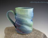 Aurora Borealis Mug - Coffee Mug - Pottery Mug - Northern Lights - by DirtKicker Pottery