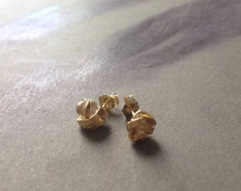 for ULRIKE gold plated sterling silver ear studs