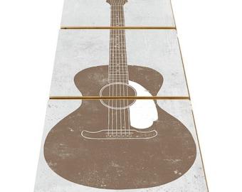 Acoustic Guitar Art - Musical Decorations - Women Musician Gift - Country Music Decor - Music Wall Art Decor - Guitar Room Decor - Music Art