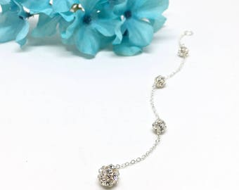 Bridal Necklace Backdrop ATTACHMENT Crystal Ball Bridal Necklace Wedding Jewelry Camryn