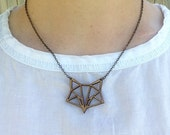 Geo Trophy Necklace - Bamboo Fox