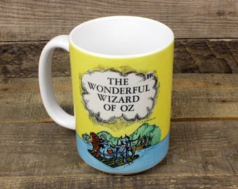 Wizard of Oz coffee mug Kids Book Gifts under 20 Librarian Gifts for Teachers Tea 15 oz ceramic mug Frank Baum dorothy scarecrow tinman lion