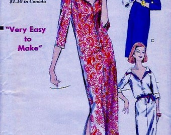"UNCUT * 1960's Vintage VOGUE  Pattern 5877  // ""very easy to make"" Sheath Dress in Two Lengths  // Size 14, Bust 36"