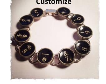 Customize Typewriter 10 Link Bracelet