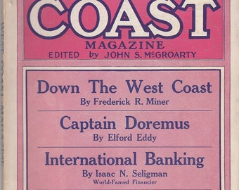 May 1912 The West Coast Magazine Los Angeles Mexican Problem Chinese Obesity International Banking