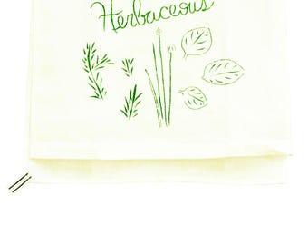 You're Herbaceous 100% Linen Tea Towel