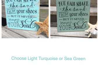 Beach Sign Quote Shake the Sand Nursery and Coastal Decor