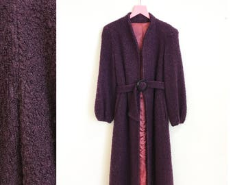 Long purple coat | Etsy