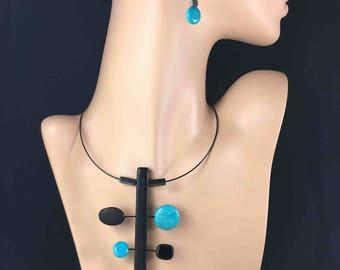 Spaces Aqua Necklace