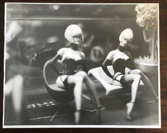 Ilford Warm Tone 16x20 print of artisan figures taken in Nice, France