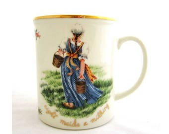 EIGHT MAIDS A MILKING All The Days of Christmas by Royal Gallery Mug