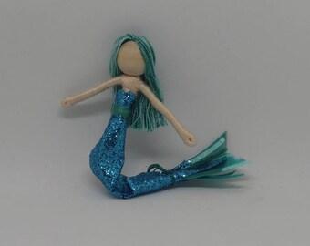 New!  Mermaid Bendy Doll by Tracys Garden Fairies - teal