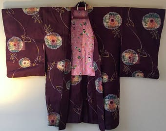 1930s MEISEN Haori KIMONO Cropped BOHO Jacket