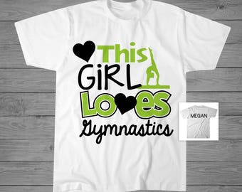 This Girl Loves Gymnastics T-Shirt   Girls Gymnastics Shirt   Gymnastics Gift   Tumbling Shirt   Gymnast Shirt   Personalized Shirt