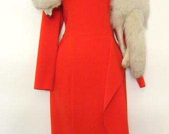 1920s - 30s HUGE 4ft long ARCTIC FOX Fur Stole, genuine all white snow fox, gorgeous!