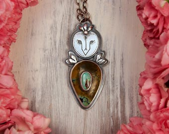 Spring Barn Owl Ring Silver Statement Pendant Turquoise Statement  Mother Mama Baby Baby Shower Gift Owl Totem Mom Pregnancy Silver Jewelry