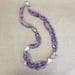 Amethyst and Afrcan Tade Beads with Handblown glass beads