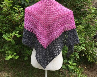 Sparkly Crochet Granny Triangle Shawl