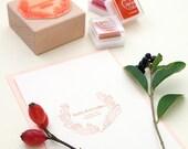 Wedding wreath stamp, Autumn Wreath Stamp, Custom Wedding Stamp, Wedding Favor Stamp, Name Stamp, Custom Wedding Invitation, Autumn wedding