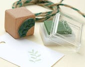 Mini Stamp, Twig #02, Rubber Stamp, Twig Stamp, Leaf Stamp, Branch Stamp, Twig Mini Stamp, Ecofriendly, Stamp for Gift Tags, Wooden Stamp
