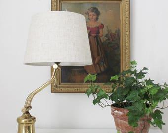 Bent Arm Brass Desk Lamp