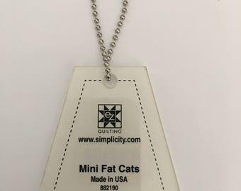Simplicity EZ Quilting Mini Fat Cats Acrylic Template
