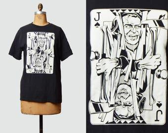 Vintage 90s The Joker Shirt TShirt / 1990s Jack Nicholson The Shining Cartoon Retro T Shirt Medium M L