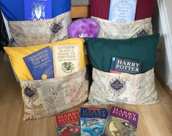 Harry Potter (Marauder's Map) inspired Reading Cushion