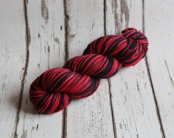Hand dyed self-striping sock yarn 100g Dennis two colour colourway