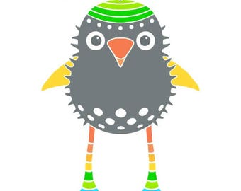 Propeller beanie cute animal art bird illustration children room decor kids art animal illustration cute bird drawing nursery wall art