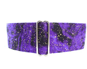 Purple Martingale Collar, 2 inch Martingale Collar, Galaxy Martingale Collar, Greyhound Collar, Space Dog Collar, Wide Dog Collar