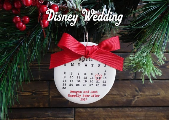 Personalized Disney Wedding Gifts: Items Similar To DISNEY WEDDING Ornament, Disney Ornament
