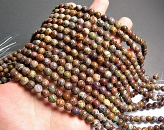 African opal - 8mm round beads - full strand - 49 beads - RFG1345
