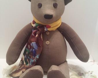 Handmade Memory Bear - Keepsake Bear - Teddy Bear from Shirts or Fabric