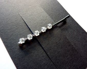 Swarovski 5 Crystal Bobby Pins - 1 Pair