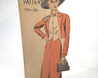 1930's Vogue Pattern Counter Display Rare 21 inches Tall
