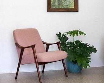 Vintage Klarinett Chair by Rolf Rastad + Adolf Relling Mid Century Danish Modern