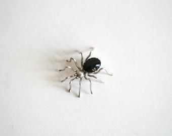 Black Onyx Spider Brooch