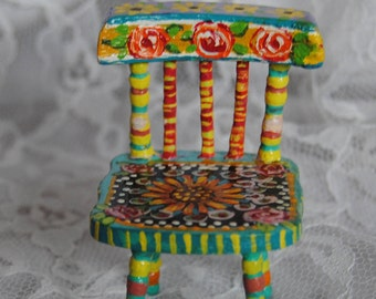 Hand painted miniature chair