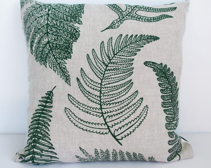 Featured listing image: NZ Ferns linen cushion cover