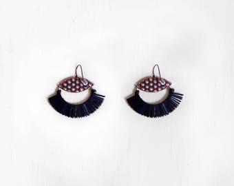 Black Duster Earrings